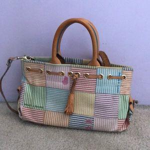 Dooney & Bourke Bags - Dooney & Bourke Striped Color Tassel Tote